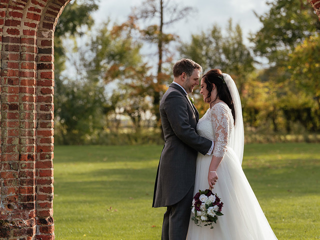 Real Covid Wedding: Becky and Ben, Colville Hall in Essex