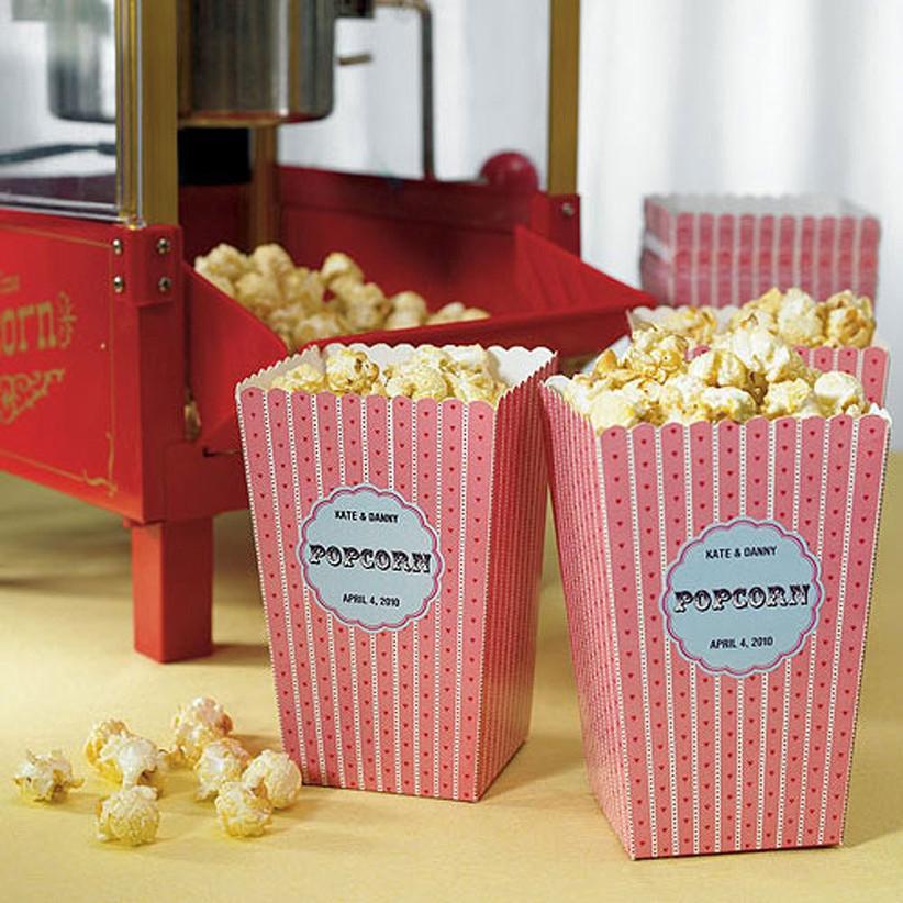 Mini red popcorn holders