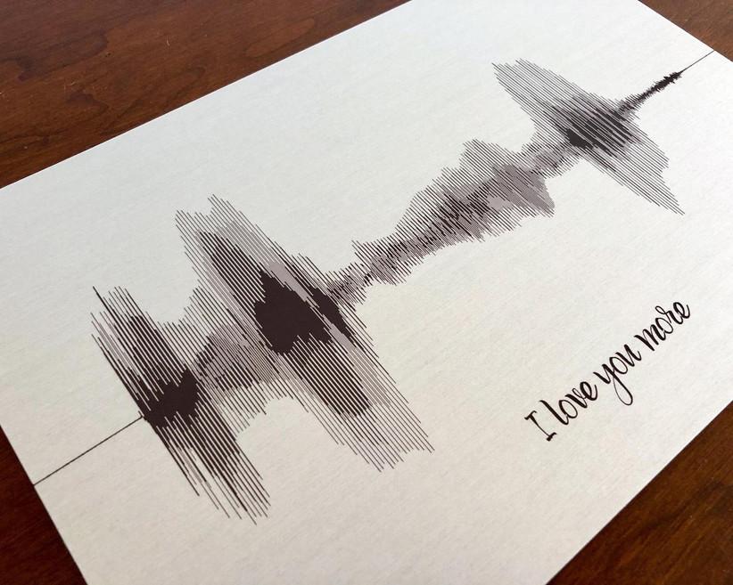 Tin soundwave print