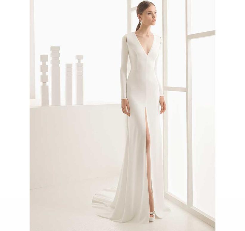 simple-wedding-dress-with-leg-slit