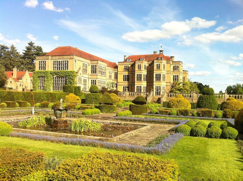 Exterior of Hertfordshire wedding venue Farnhams Hall