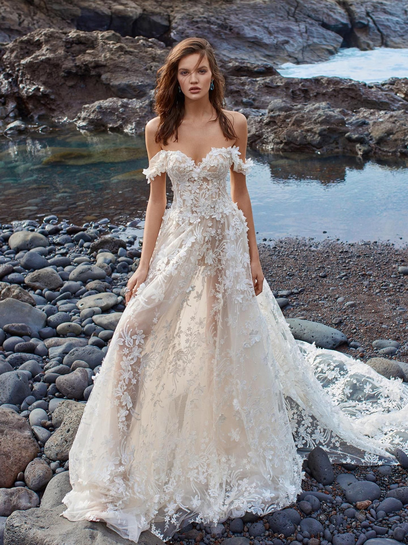 45 Gorgeous Off The Shoulder Wedding Dresses Hitched Co Uk
