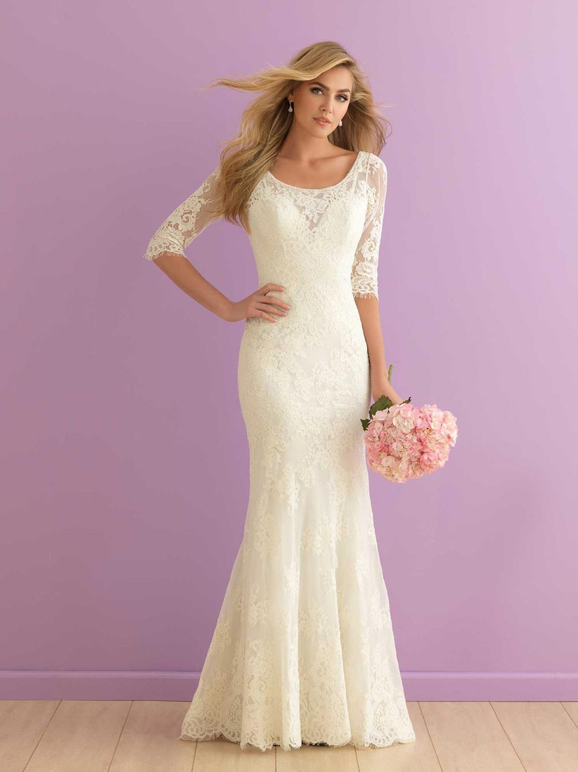 lace-church-wedding-dress-with-3-4-sleeves