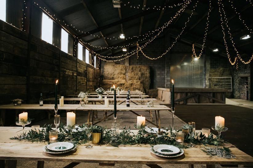 Wedding reception at Glasgow wedding venue Harelaw Farm