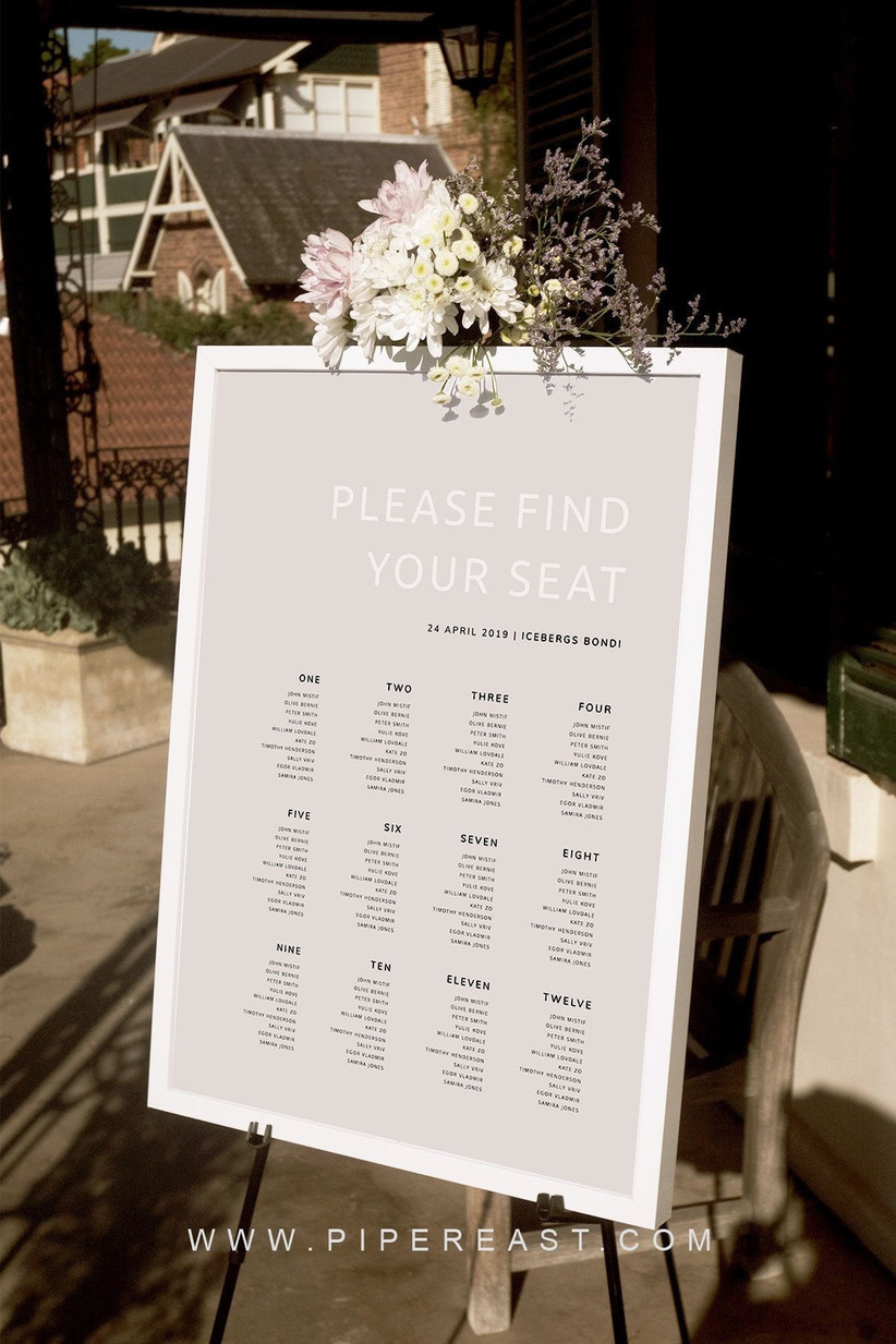 Wedding Table Plans