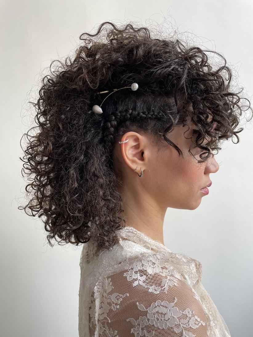Side plait half up half down hairstyle