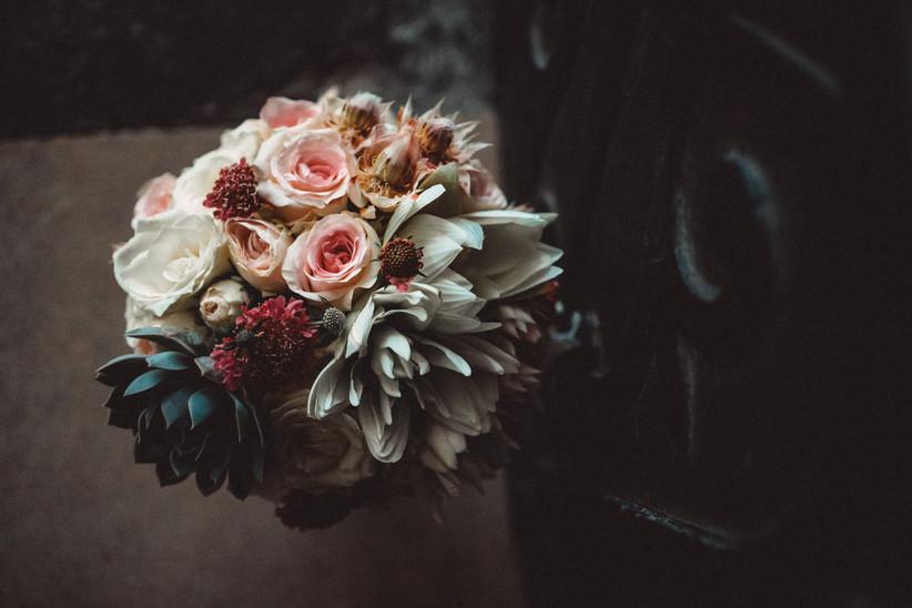 Nirosha's wedding bouquet from above