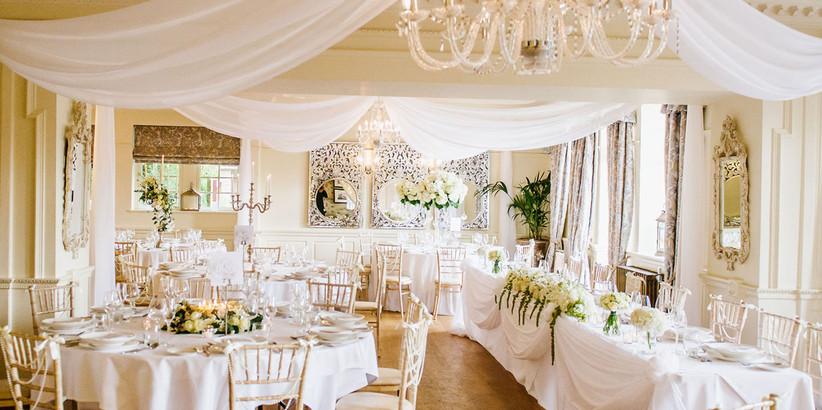 Interior of Lancashire wedding venue Eaves Hall