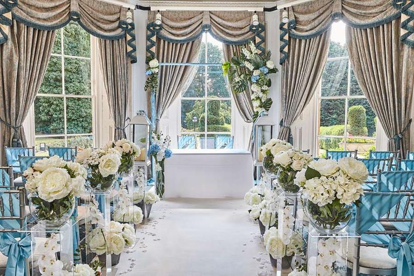 Ceremony room at Northamptonshire wedding venue Sedgebrook Hall
