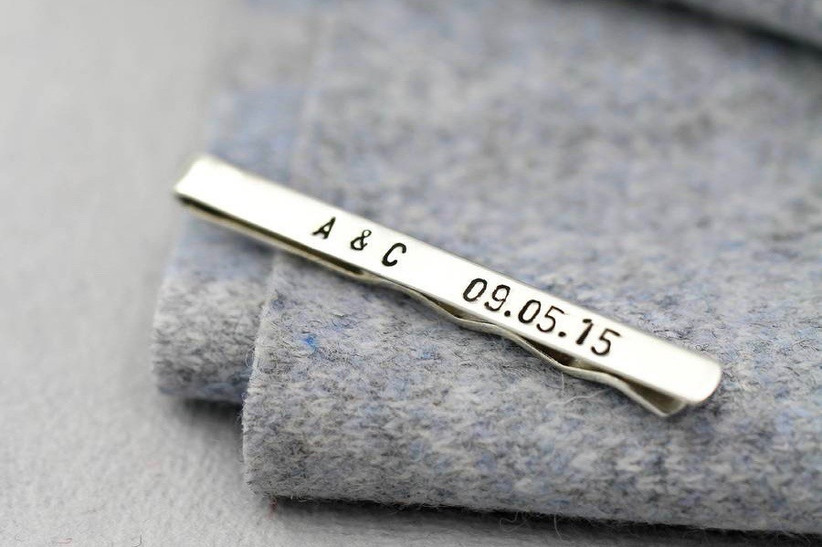9. wedding thank you gifts Personalised Silver Tie Clip by POSH TOTTY DESIGNS - NOTHS