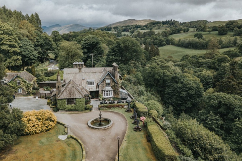 Aerial view of Broadoaks Boutique Country House