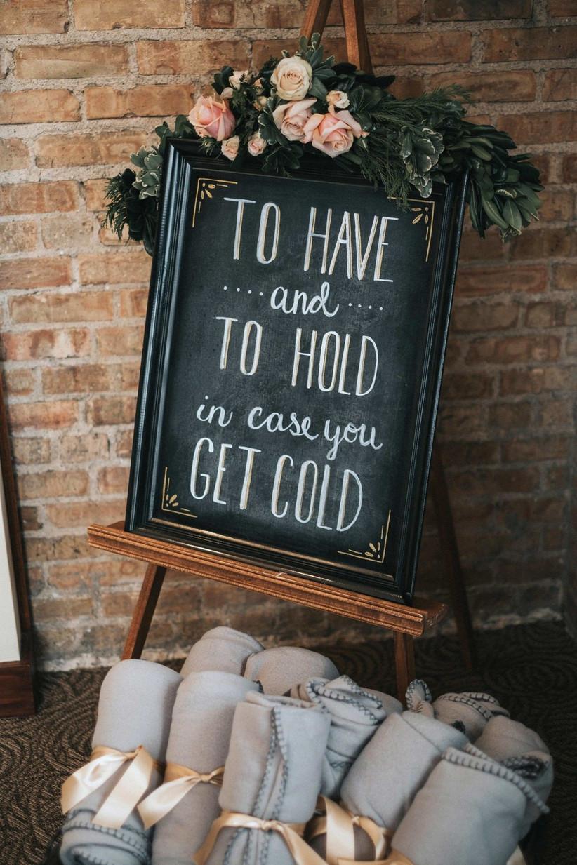 winter wedding blankets