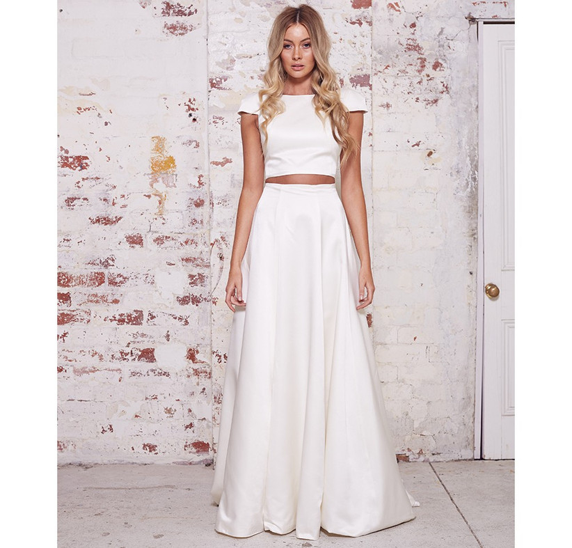 two-piece-satin-wedding-dress