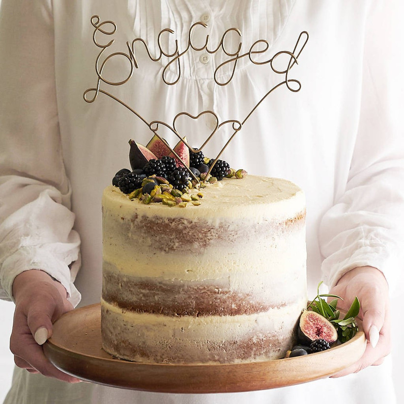 engaged-cake-topper