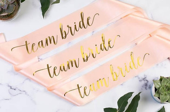 17 Stylish Hen Party Sashes for You and Your Bride Squad