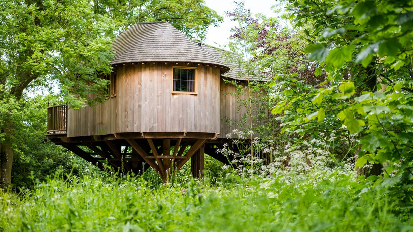 The Treehouse at outdoor wedding venue The Woodlands