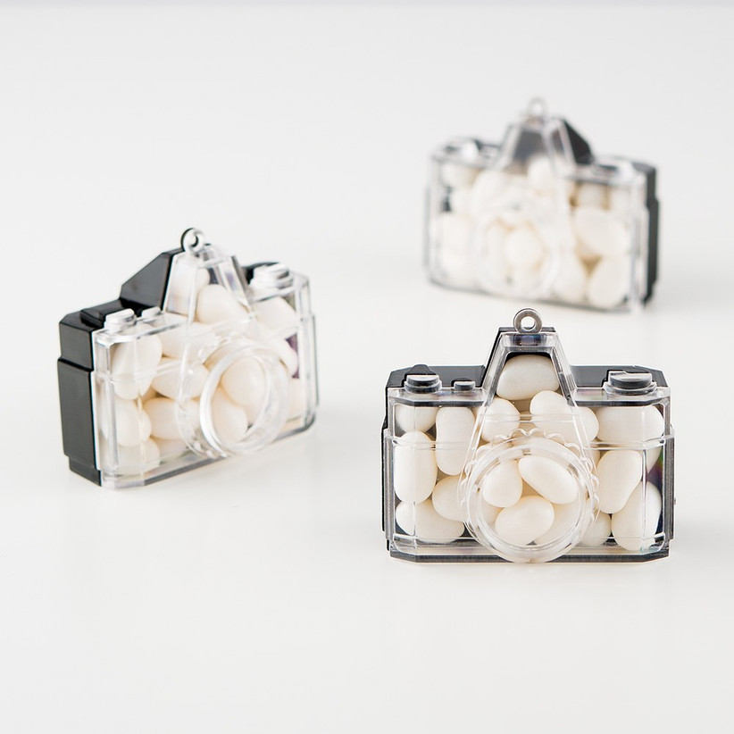 Camera favours filled with sweets