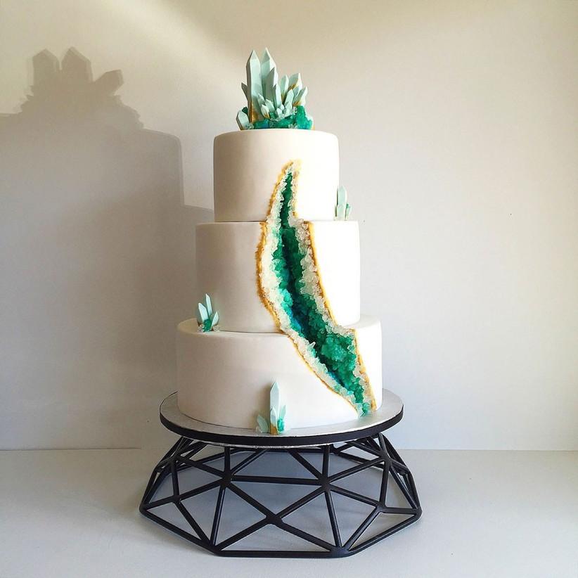 emerald-geode-wedding-cake