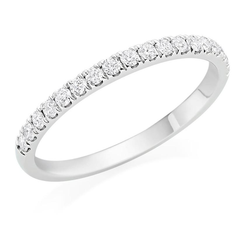 wedding anniversary stones - platinum eternity ring