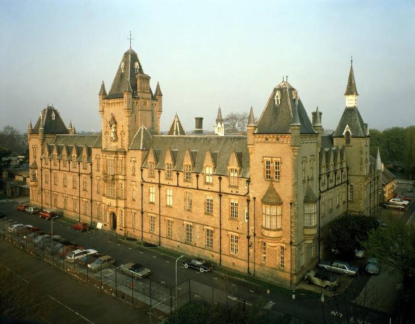 Large castle set in a city
