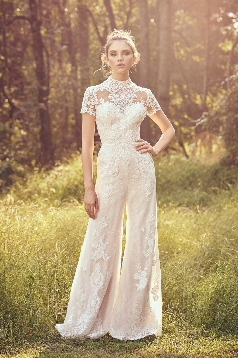 37 Best Wedding Jumpsuits For 2020 2021,Indian Wedding Reception Reception Bride And Groom Dress Colour Combination