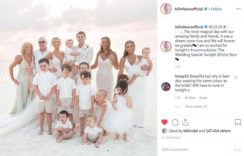 Billie Faiers wedding