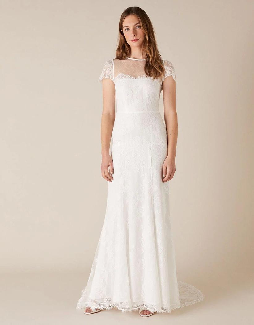 Lace wedding dress for older brides