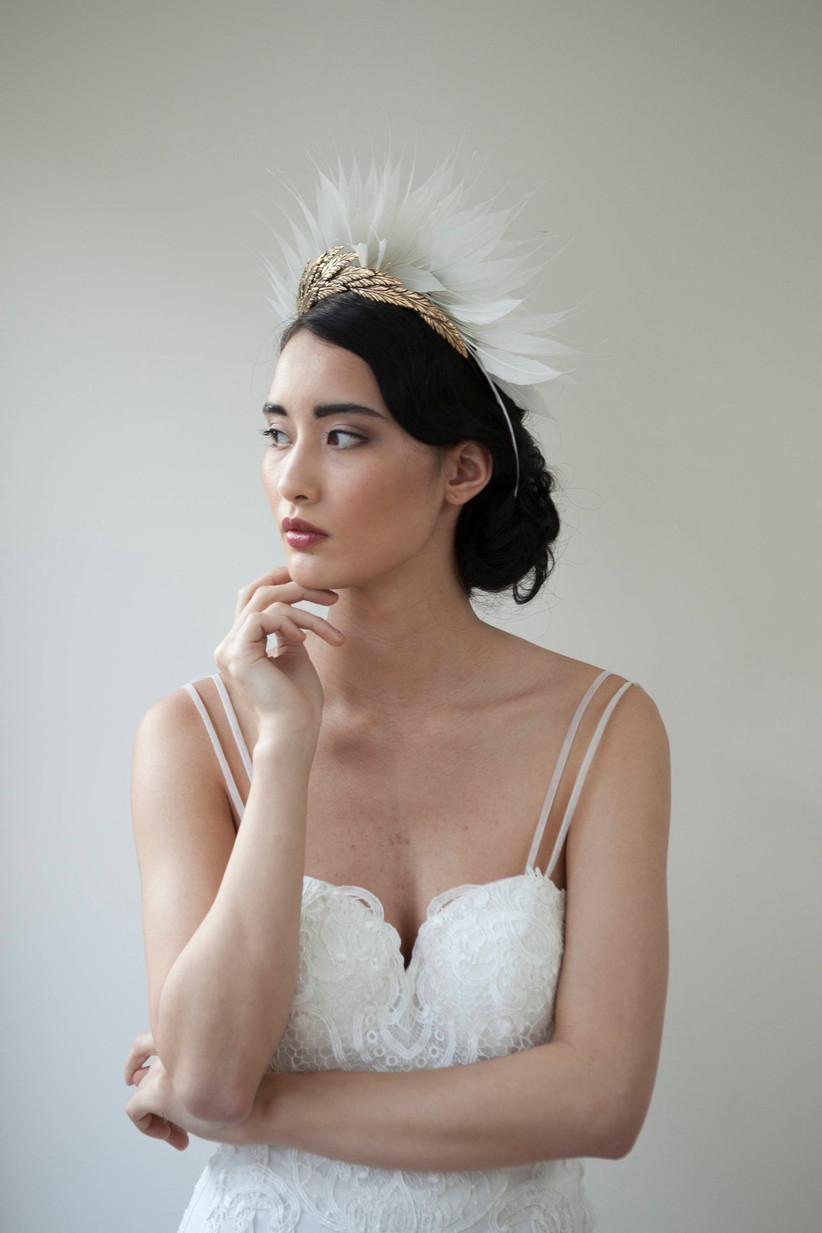 Etsy feather tiara