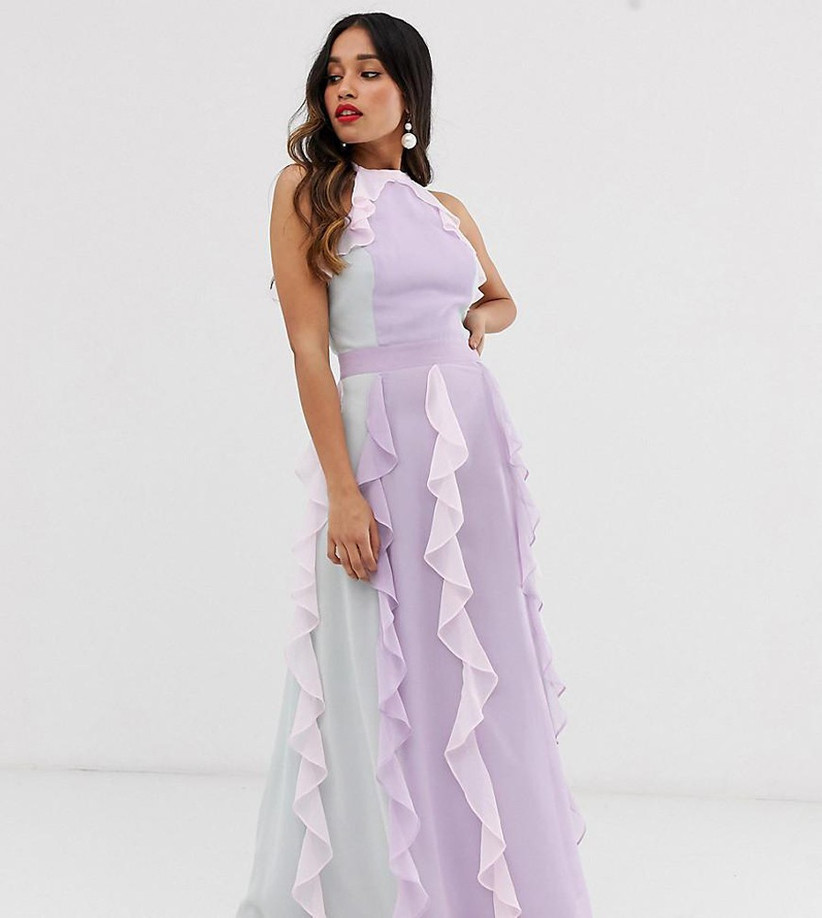 true-decadence-multi-Delicate-Halter-Neck-Maxi-Dress-With-Waterfall-Skirt-In-Tonal-Pastel