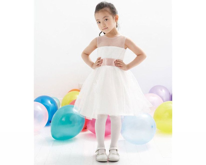 short-white-and-pink-flower-girl-outfit