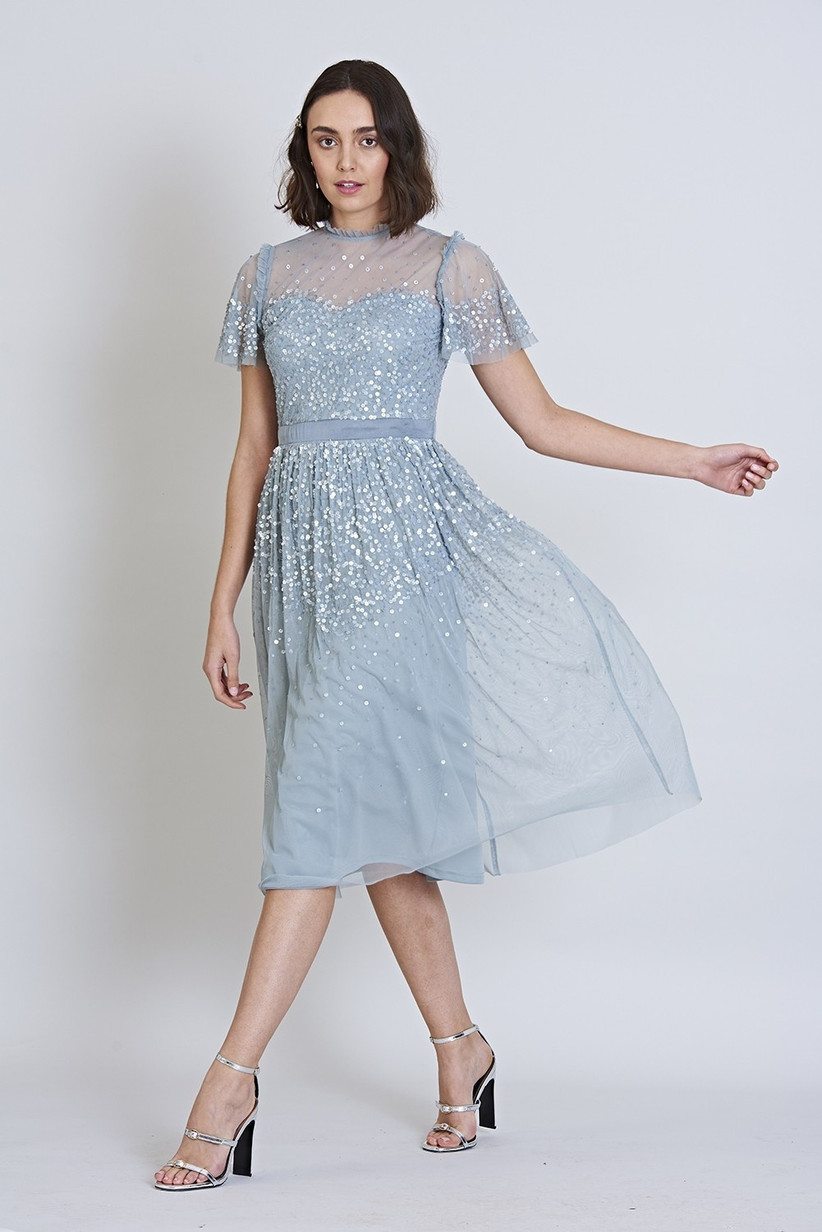Frock and Frill Glenna Scatter Sequin Midi Dress