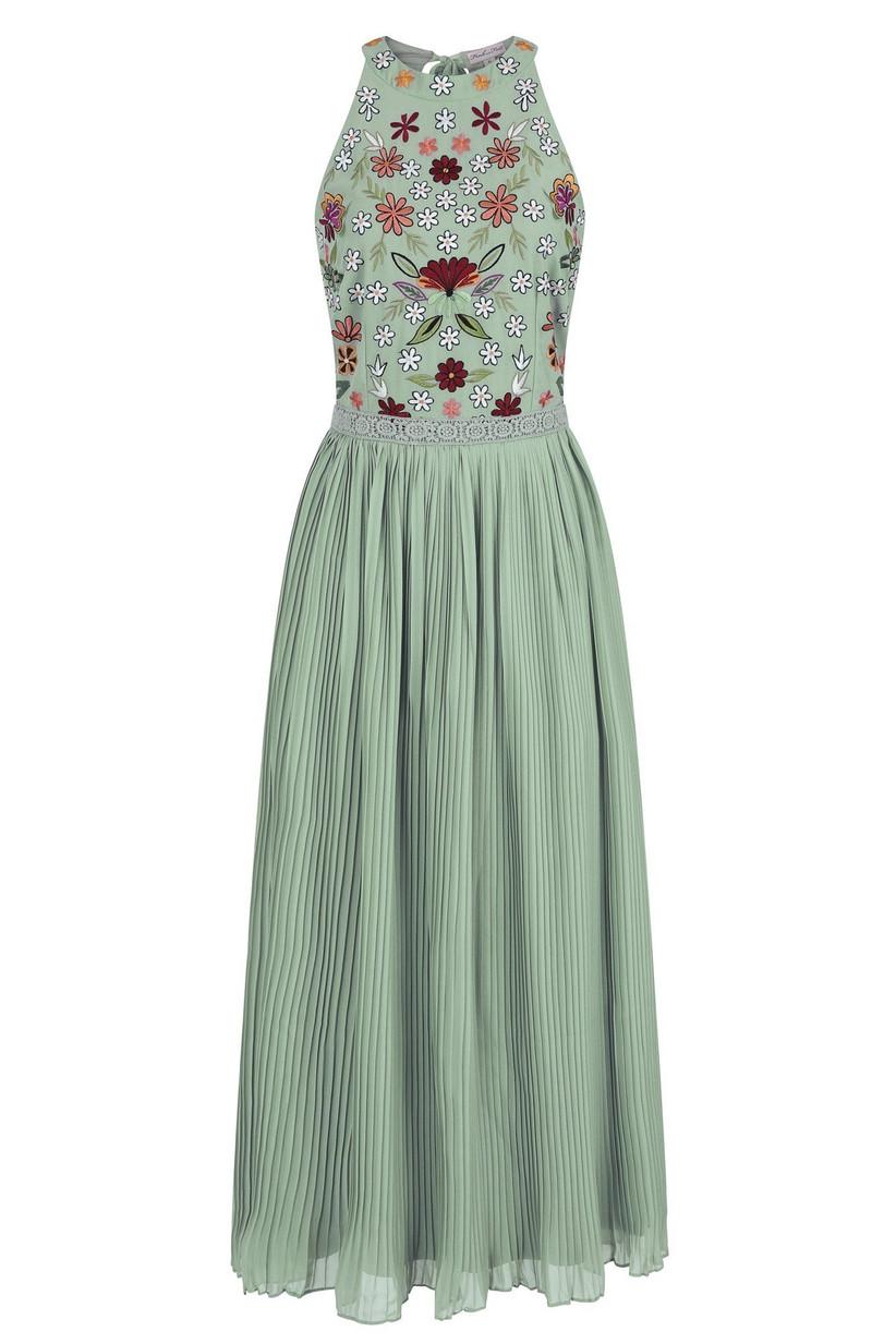 frock and frill farica-halter-neck-midi-dress