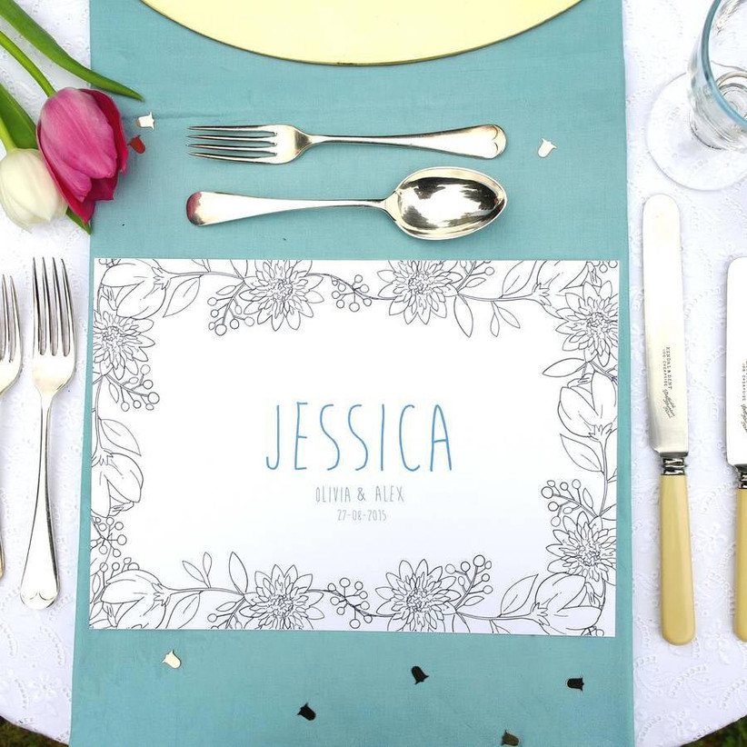 Colouring sheet table place mat