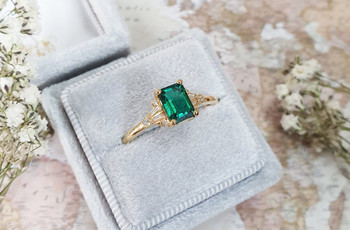 Emerald Engagement Rings: 35 of the Most Dazzling Designs