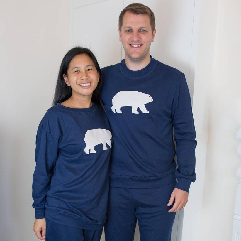 Polar bear couples pyjamas