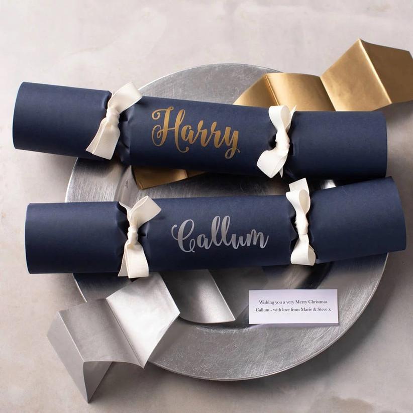 Christmas cracker on wedding table