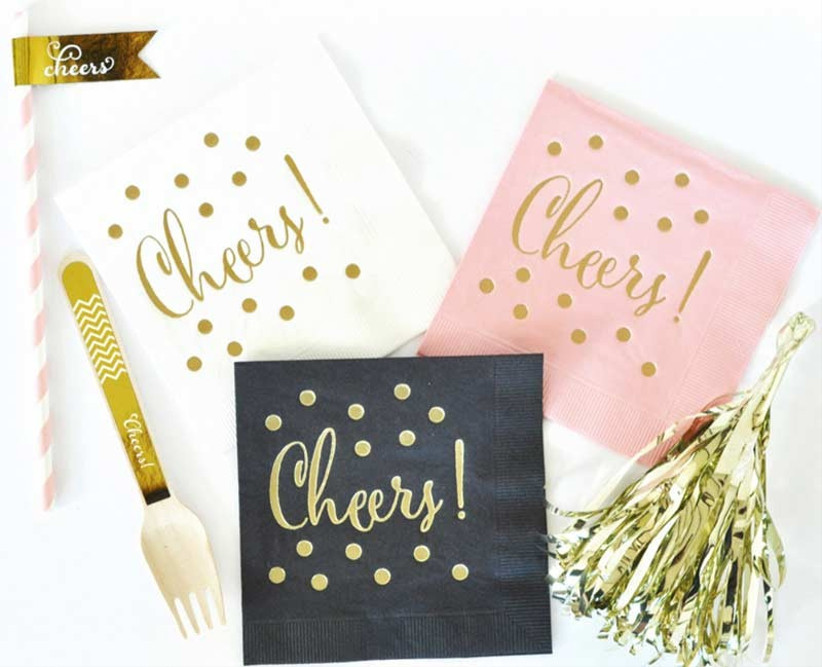gold-foil-paper-wedding-napkins
