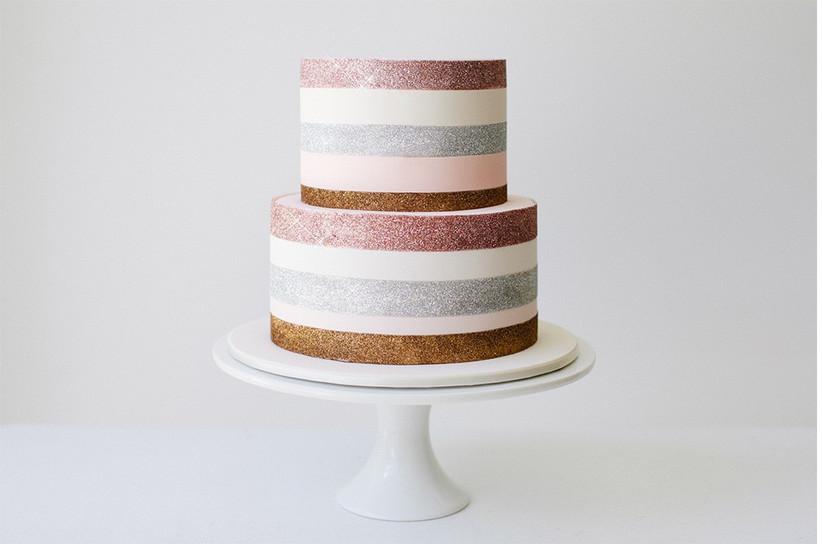 stripy-sparkly-wedding-cake