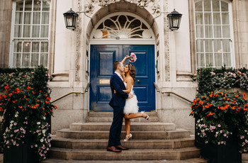 Real Covid Wedding: Trina and Andrew, Chelsea Town Hall and Bluebird, Chelsea