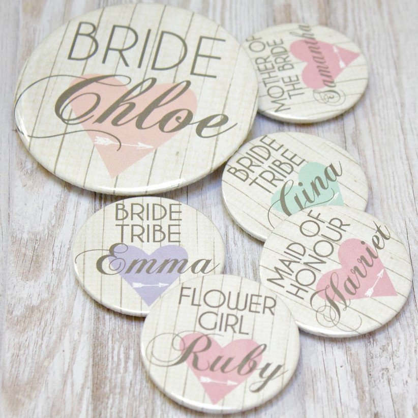 Hen party pastel badges