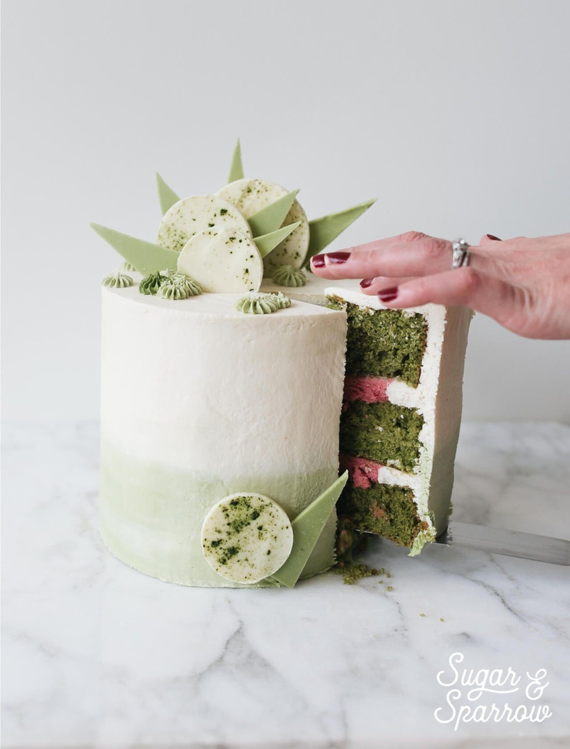 matcha wedding cake