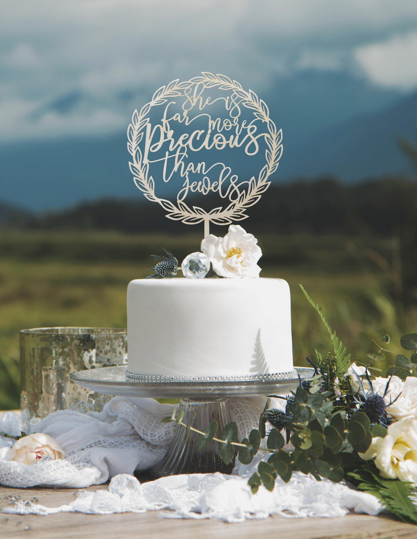 biblical quote cake topper