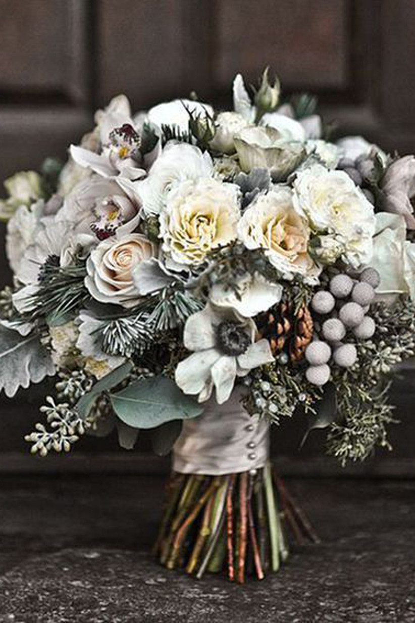 Winter Wedding Flowers 23 Winter Wedding Bouquets Hitched Co Uk