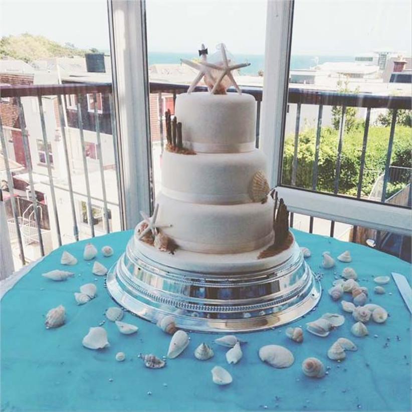 we-love-this-sea-themed-wedding-cake-for-a-beach-wedding-idea