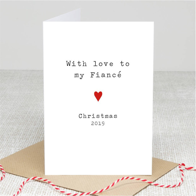 Christmas cards for your fiance