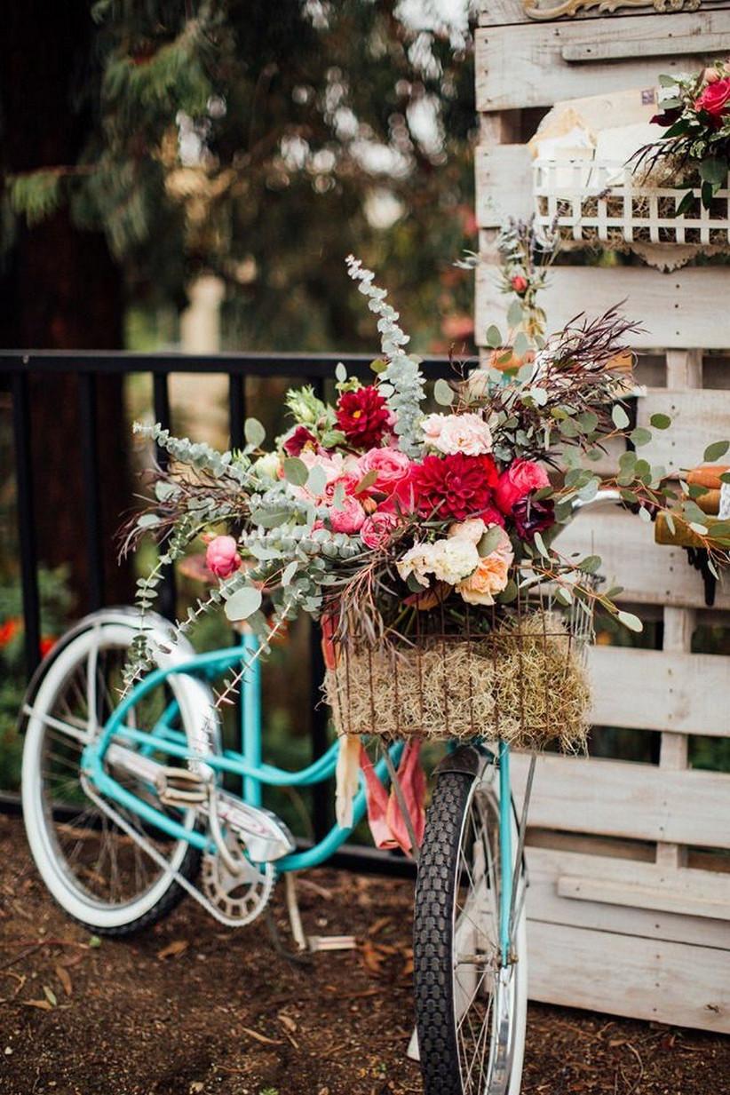 vintage wedding bike