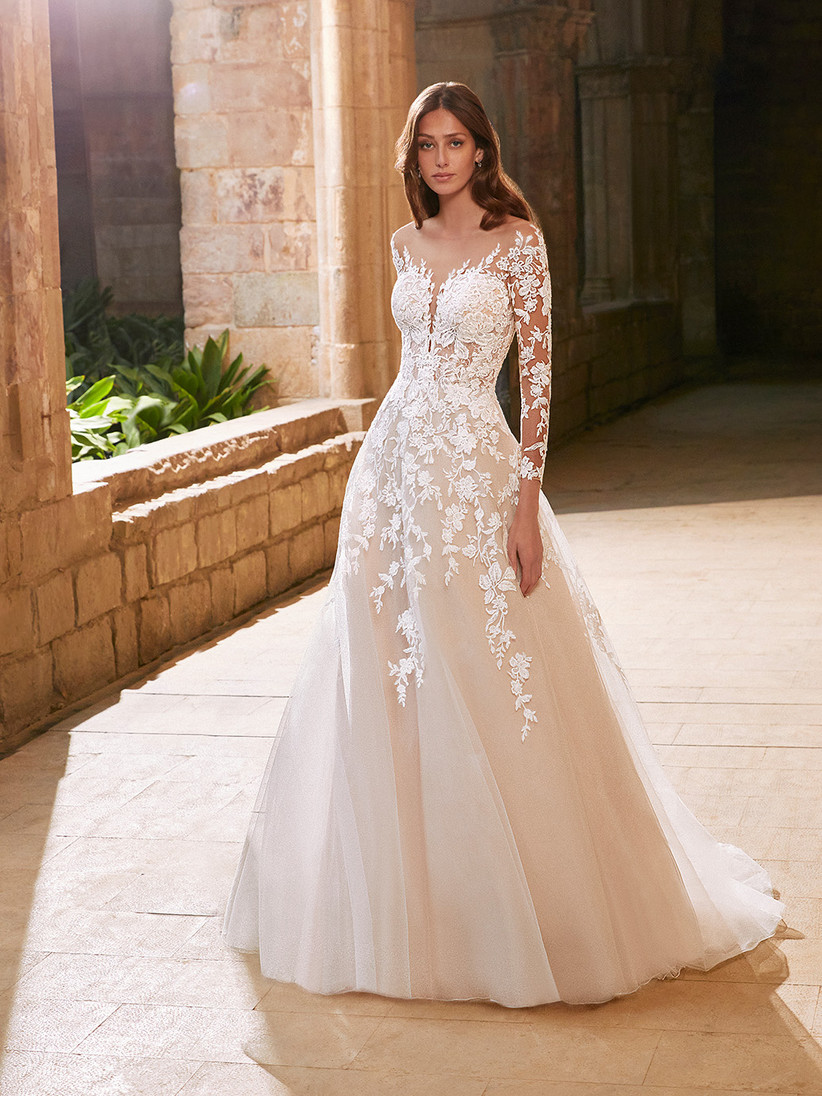 Etoile Arabelle long sleeve wedding dress from the front