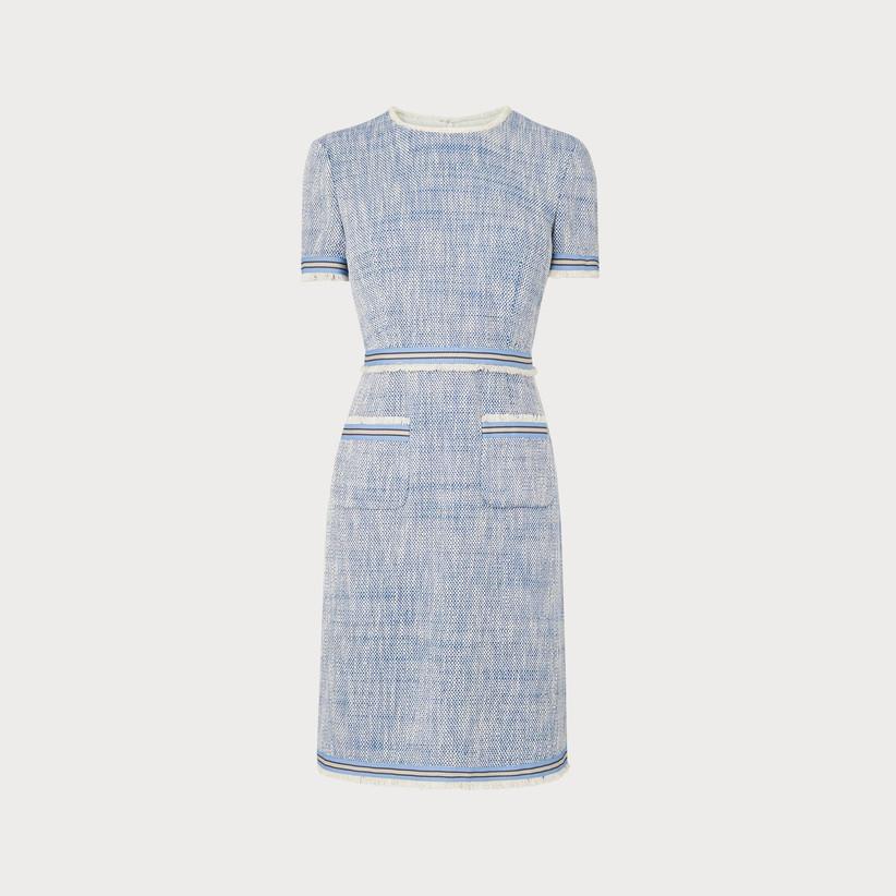 BLUE TWEED DRESS