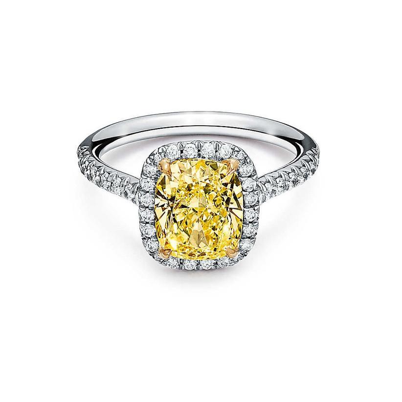 Tiffany yellow diamond engagement ring