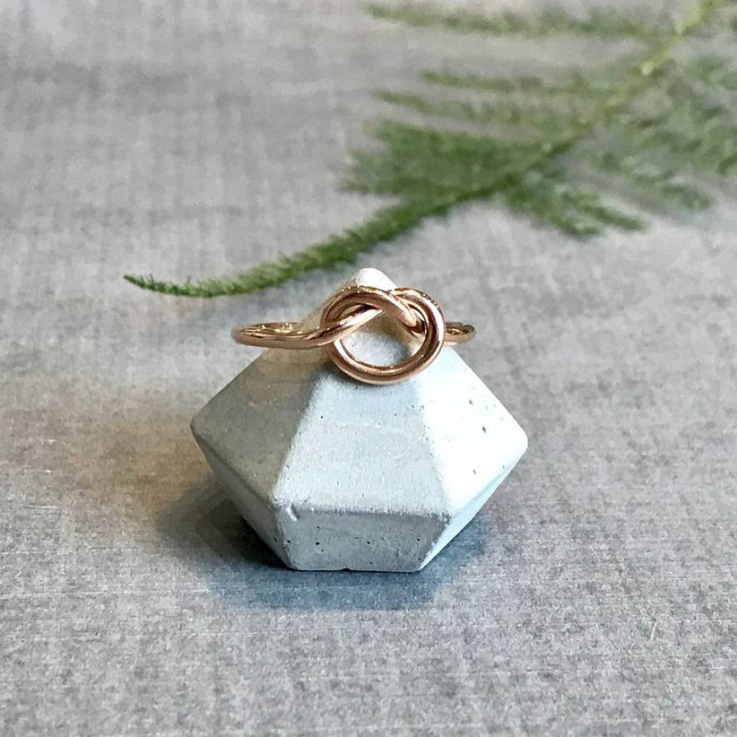 Love knot proposal ring
